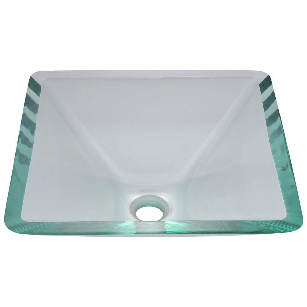 Polaris Glass Vessel Sink in Crystal