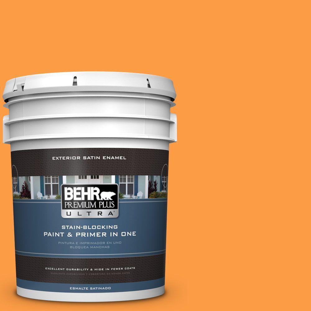 BEHR Premium Plus Ultra 5-gal. #P240-6 Exotic Blossom Satin Enamel Exterior Paint