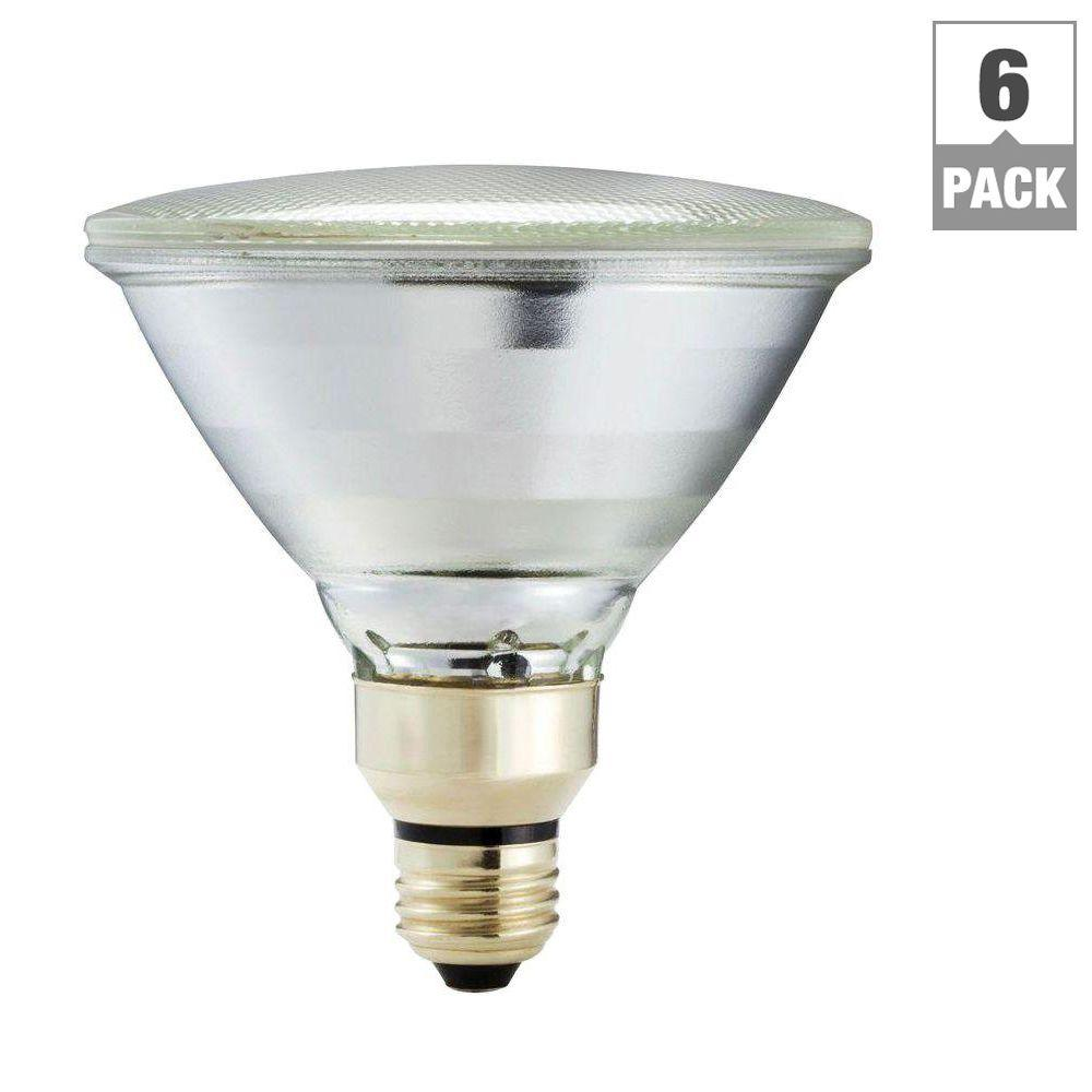 Flood and spot light bulbs lighting the home depot 90 watt equivalent par38 halogen indooroutdoor dimmable flood light bulb 6 aloadofball Gallery