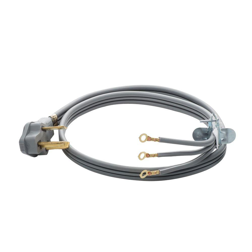 Smart Choice 4 ft. 30 Amp 3-Prong Dryer Cord Smart Choice 4 ft. long, 30 Amp 3-wire dryer power cord used to connect your electric dryer to a 3-prong dryer receptacle. This cord features a 90° plug-in design. This universal installation accessory can be used with any model or brand.