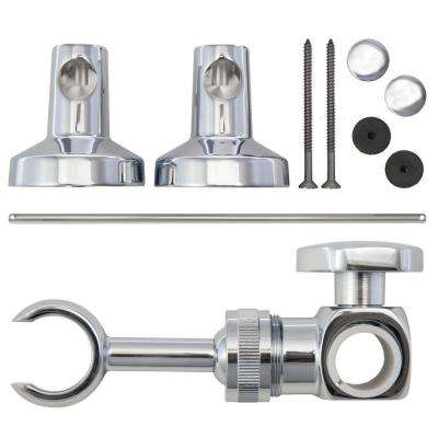 Commercial Adjustable 30 in. Slide Bar with Attaching Hardware in Chrome