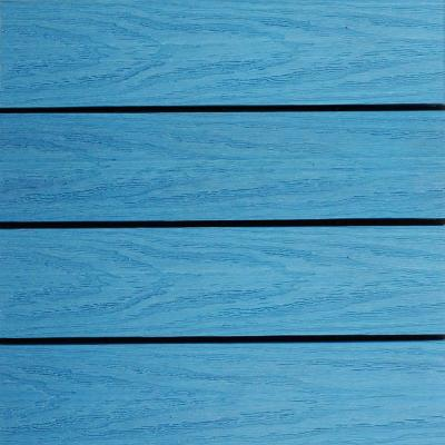 UltraShield Naturale 1 ft. x 1 ft. Quick Deck Outdoor Composite Deck Tile in Caribbean Blue (10 sq. ft. per box)