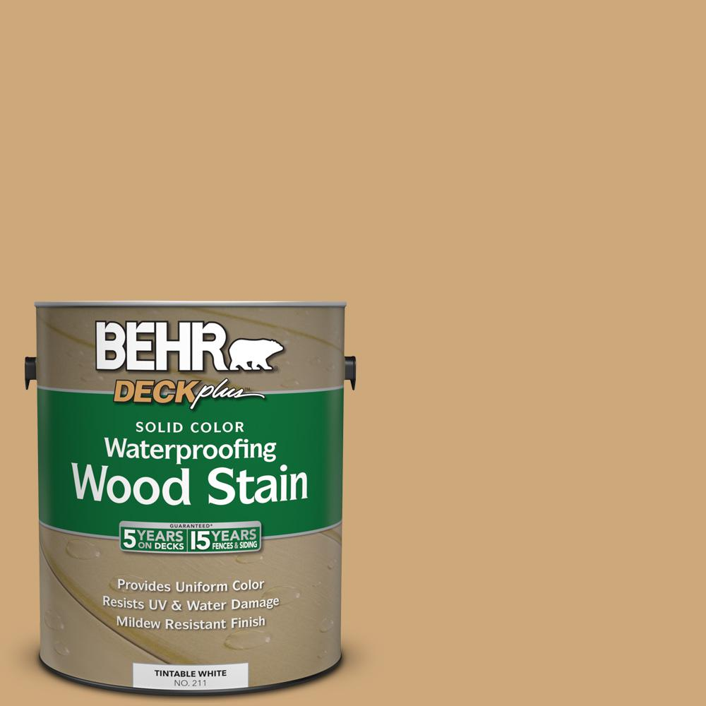1 gal. #SC-127 Beach Beige Solid Color Waterproofing Wood Stain