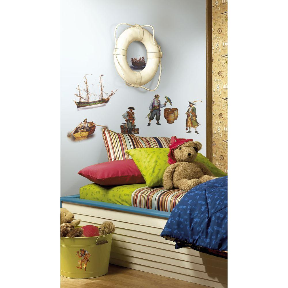 5 in. x 11.5 in. Pirates Peel and Stick Wall Decals