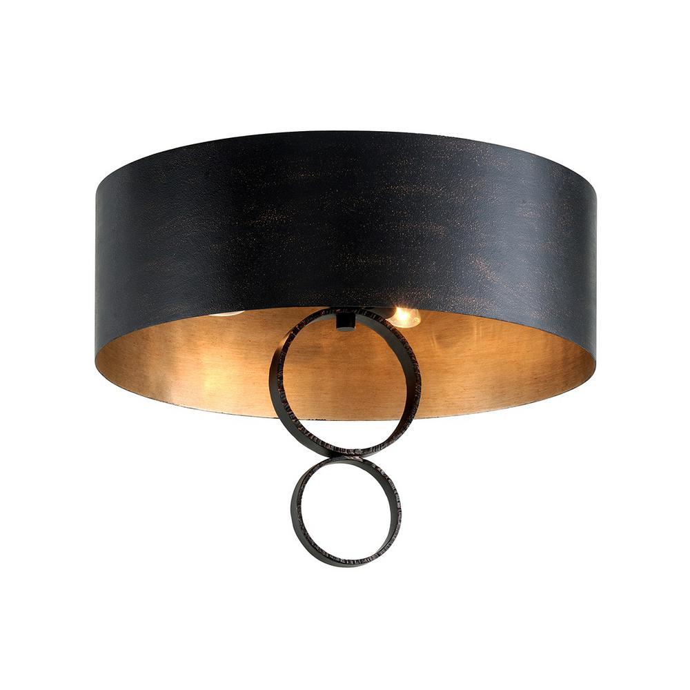 Rivington 4 Light Semi-Flushmount - Charred Copper Finish