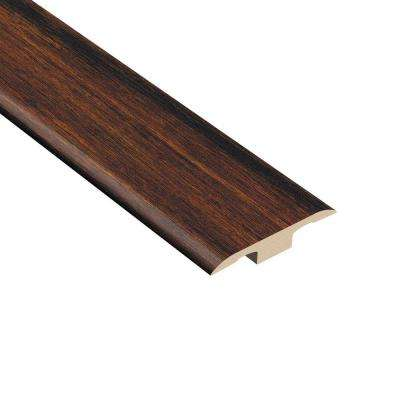 Strand Woven Bamboo Sable 1/8 in. Thick x 1-3/8 in. Wide x 94-1/2 in. Length Vinyl T-Molding