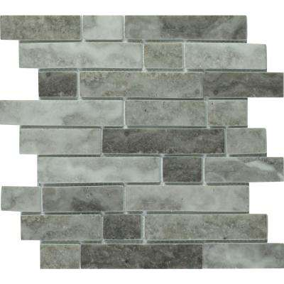 Urban Tapestry Interlocking 12 in. x 12 in. x 6 mm Glass Mesh-Mounted Mosaic Tile (14.19 sq. ft. / case)