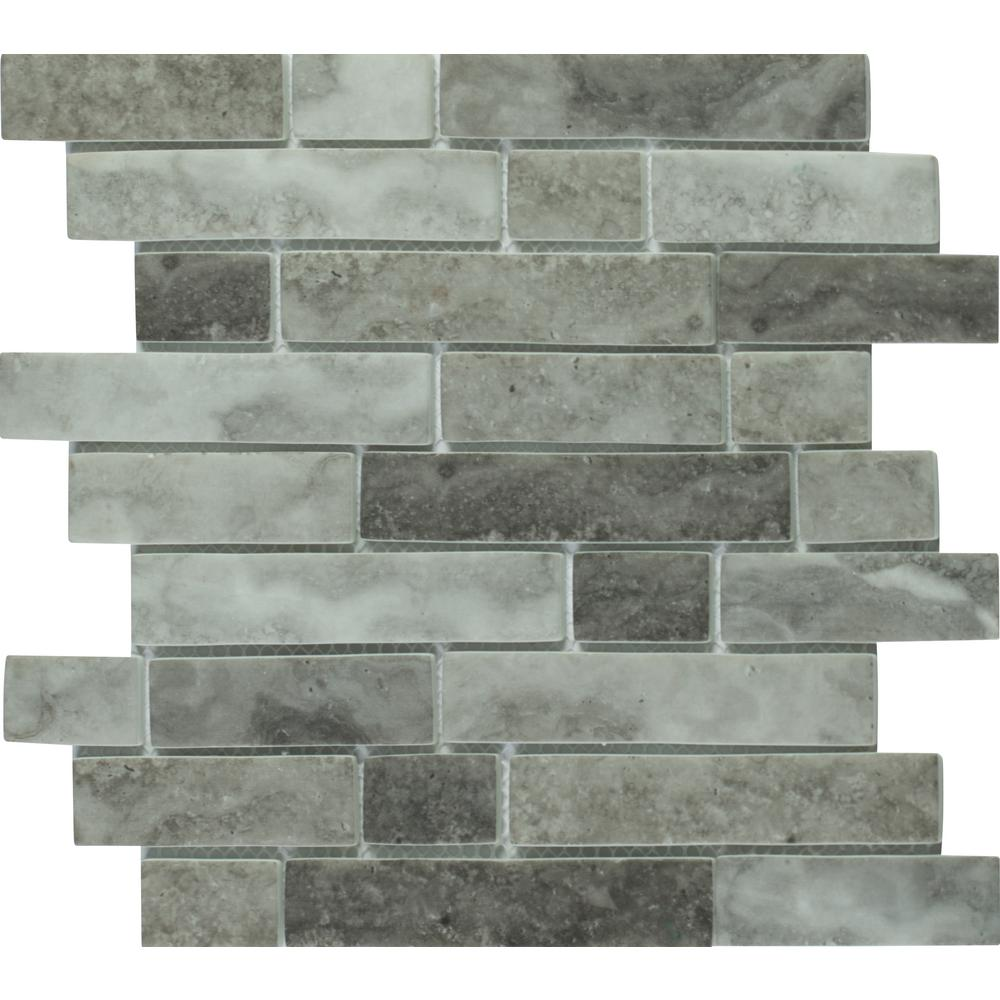 Msi Urban Tapestry Interlocking 12 In X 6 Mm Gl Mesh Mounted Mosaic Tile 14 19 Sq Ft Case Glsil Ut6mm The Home Depot