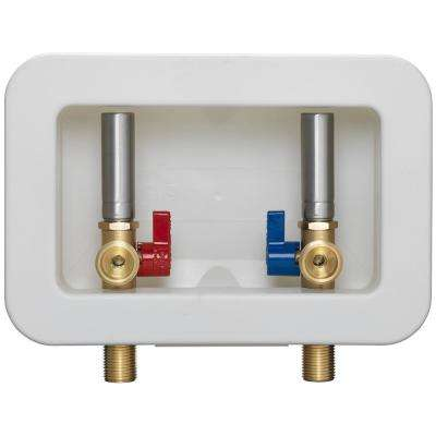 Washing Machine Box with 1/2 in. MIP and 1/2 in. Sweat x 3/4 in. MHT Dual Stainless Steel Water Hammer Arrestor