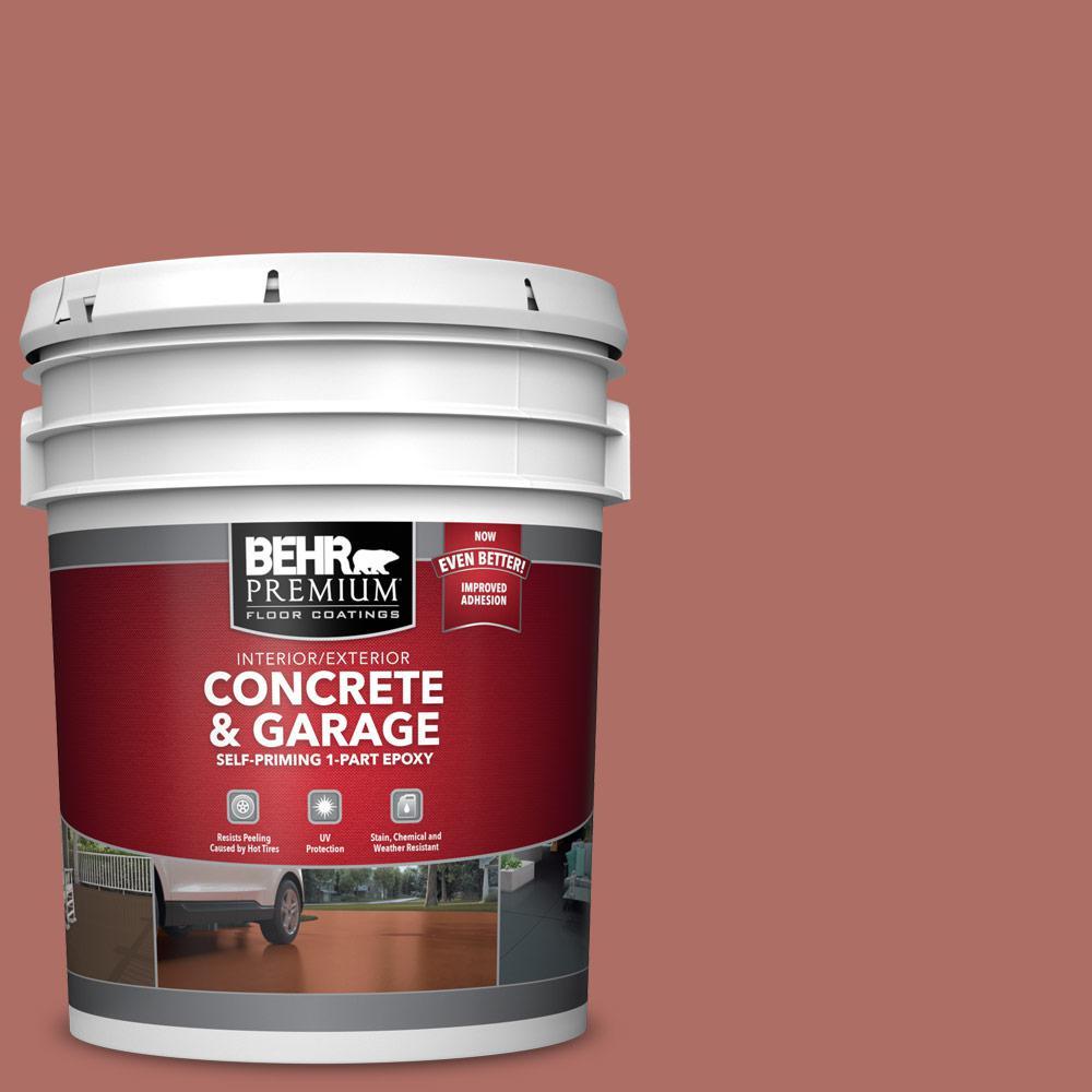 5 gal. #PPF-20 New England Brick Self-Priming 1-Part Epoxy Satin Interior/Exterior Concrete and Garage Floor Paint