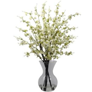Cherry Blossoms with Vase Arrangement in White