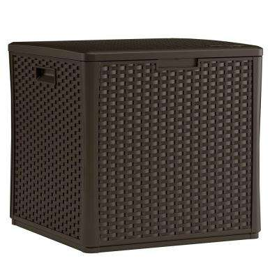 Wicker 60 Gal. Resin Storage Cube Deck Box