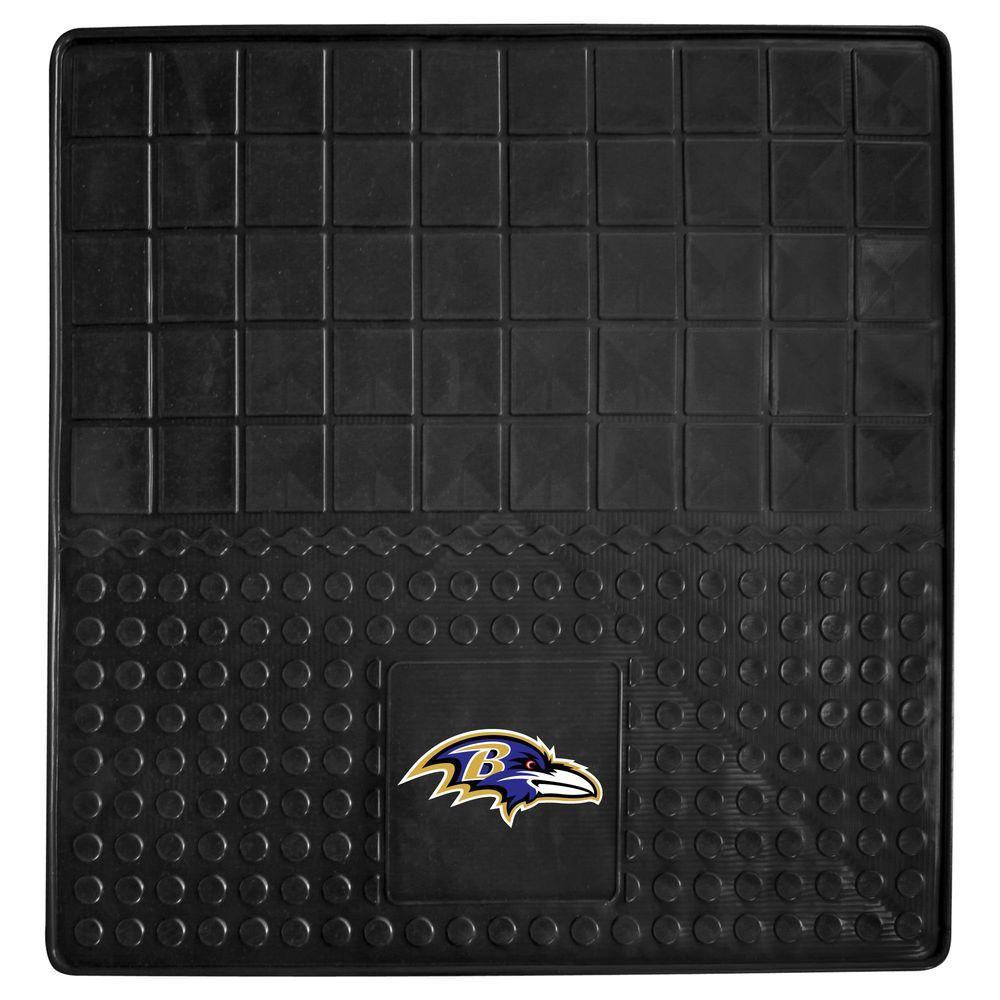 FANMATS Baltimore Ravens Heavy Duty Vinyl 31 in. x 31 in. Cargo Mat