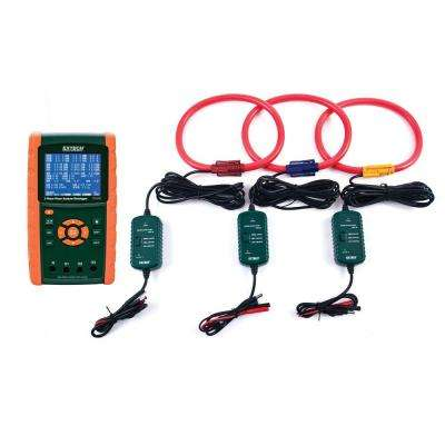 3000A 3-Phase Power Analyzer and Data Logger Kit with NIST