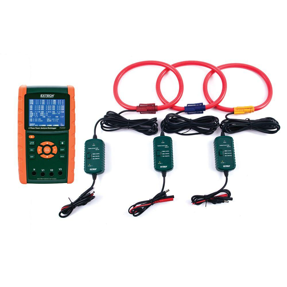 3000 Amp 3-Phase Power Analyzer/Data Logger Kit