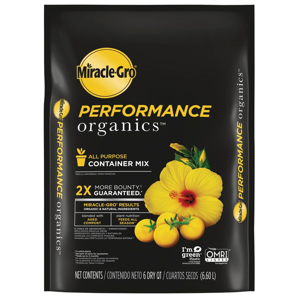 Miracle-Gro 6 qt. Performance Organics All Purpose Potting Soil Mix
