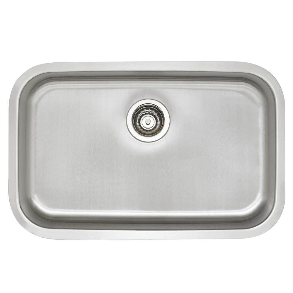 blanco stellar undermount stainless steel 28 in  single bowl ada kitchen sink blanco stellar undermount stainless steel 28 in  single bowl ada      rh   homedepot com