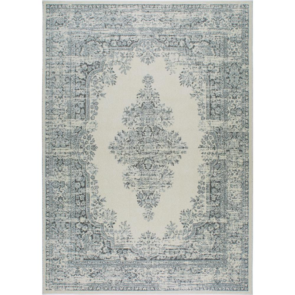 Vintage Ivory/Gray 8 ft. x 10 ft. Indoor Area Rug