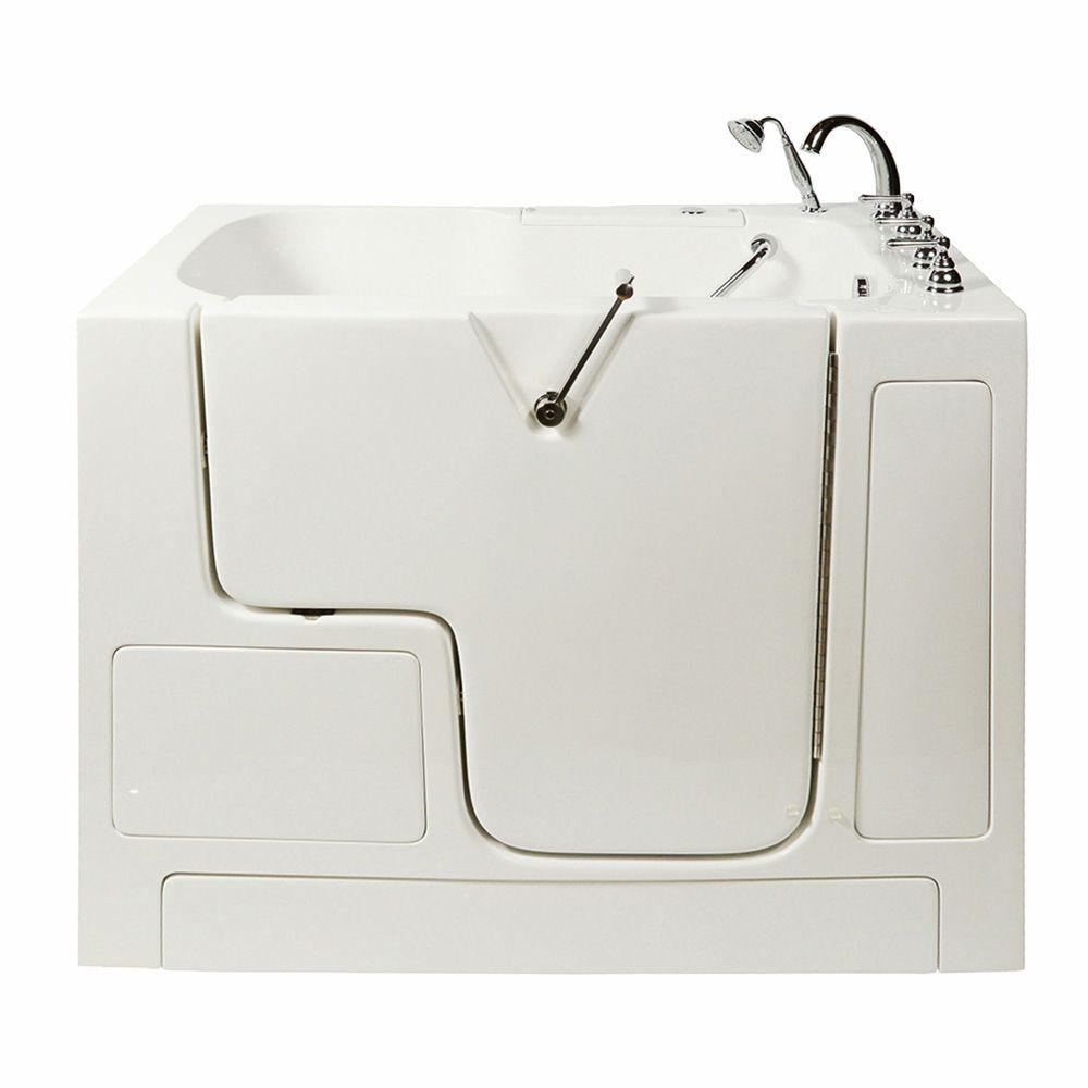 Ella Wheelchair Access 4.33 ft. x 32 in. Whirlpool Bathtub in White with Right Drain/Door