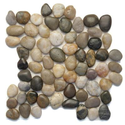 Anatolia Rumi 12 in. x 12 in. x 12.7 mm Natural Stone Pebble Mesh-Mounted Mosaic Tile (10 sq. ft. / case)