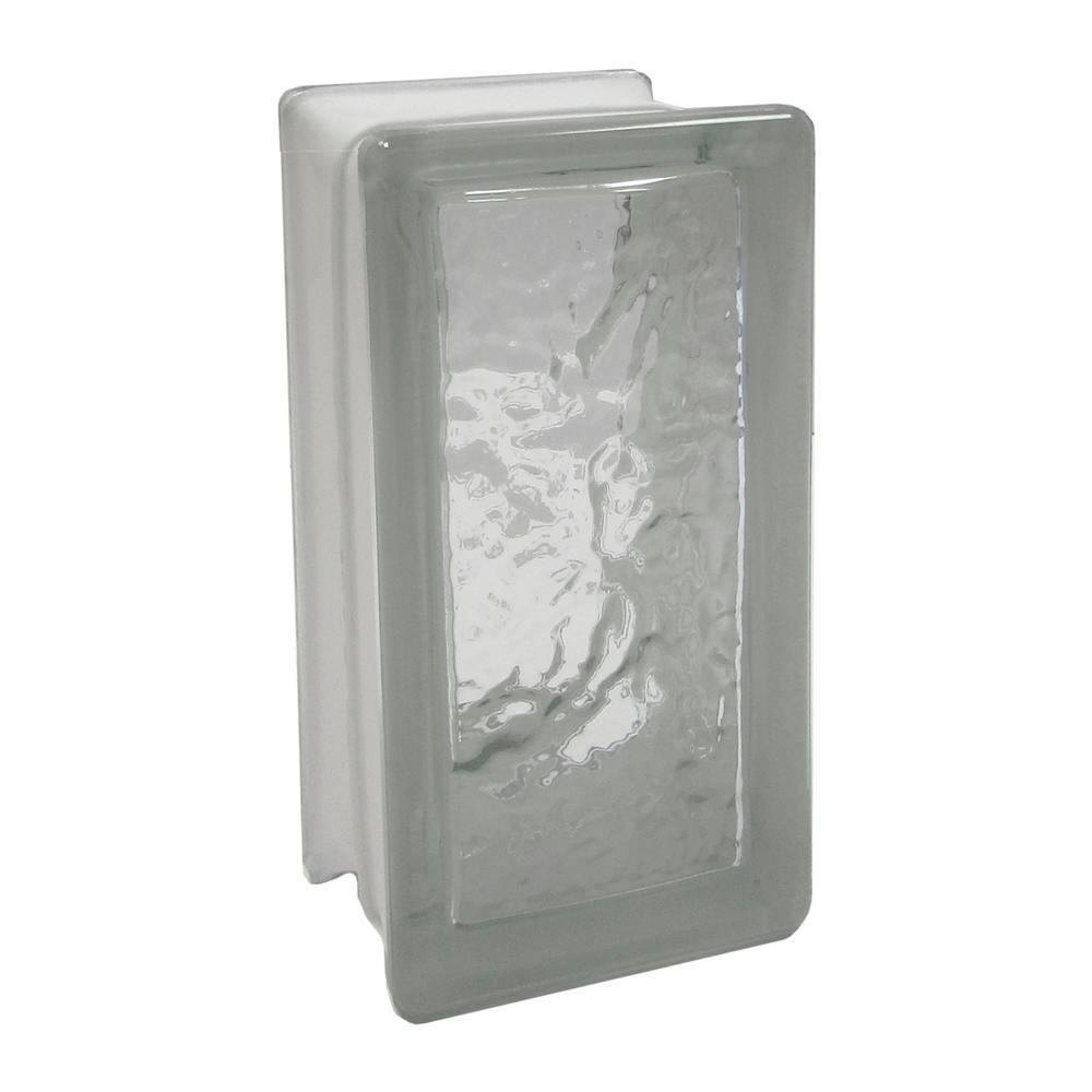 Cortina 3.75 in. x 7.75 in. x 3.875 in. Ice Pattern Glass Block (8-Pack)