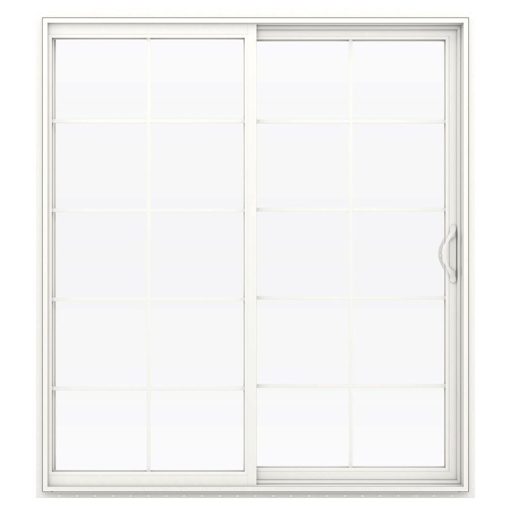 V-2500 Series Vinyl Sliding Patio Door with Grids