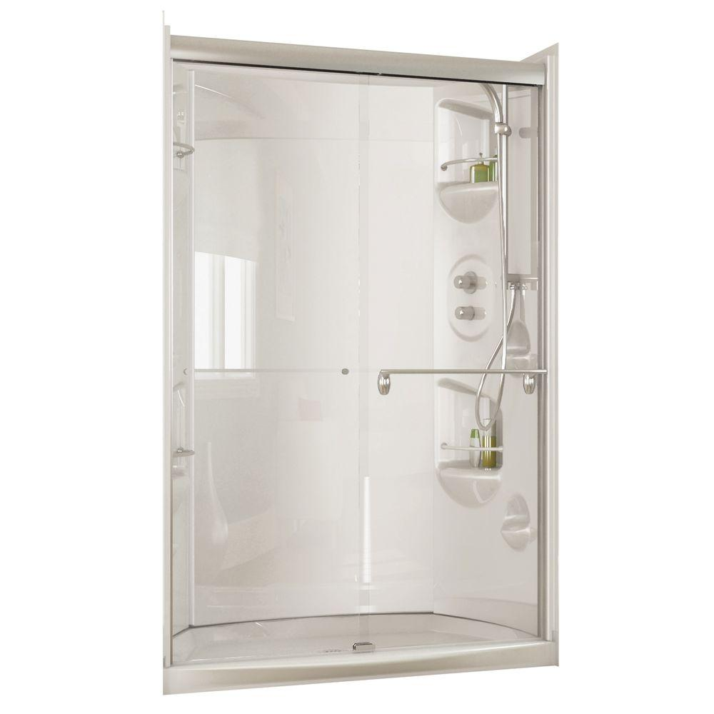MAAX Urbano 4832 33-1/4 in. D x 48-1/4 in. W x 84-5/8 in. H Walk-in Shower Kit in Chrome-DISCONTINUED