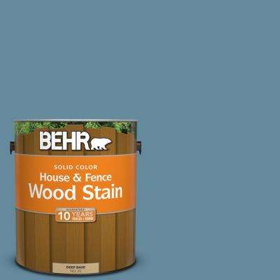 1 gal. #550F-5 Winter Lake Solid Color House and Fence Exterior Wood Stain