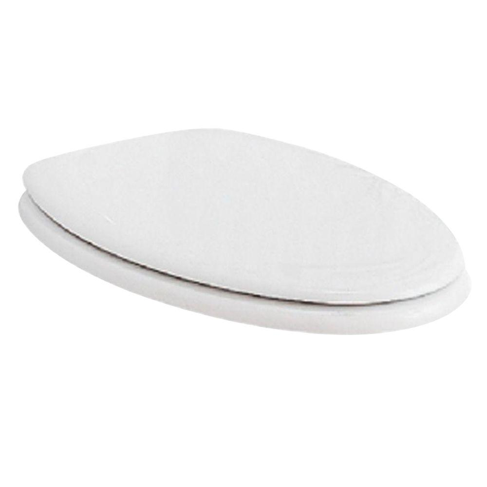 Porcher Elongated Closed Front Toilet Seat in Biscuit-DISCONTINUED