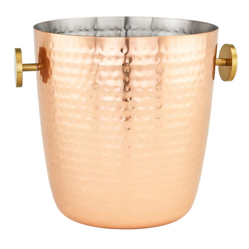 5 Qt. Aura Hammered Copper Champagne Bucket