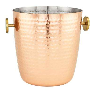 5 Qt. Aura Hammered Copper Champagne Bucket