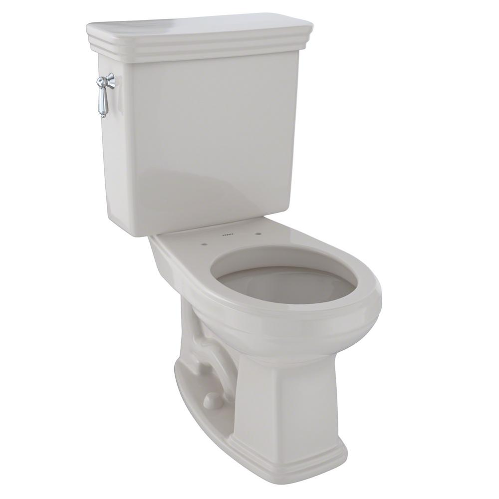 Toto Promenade 2-Piece 1.6 GPF Single Flush Round Toilet ...