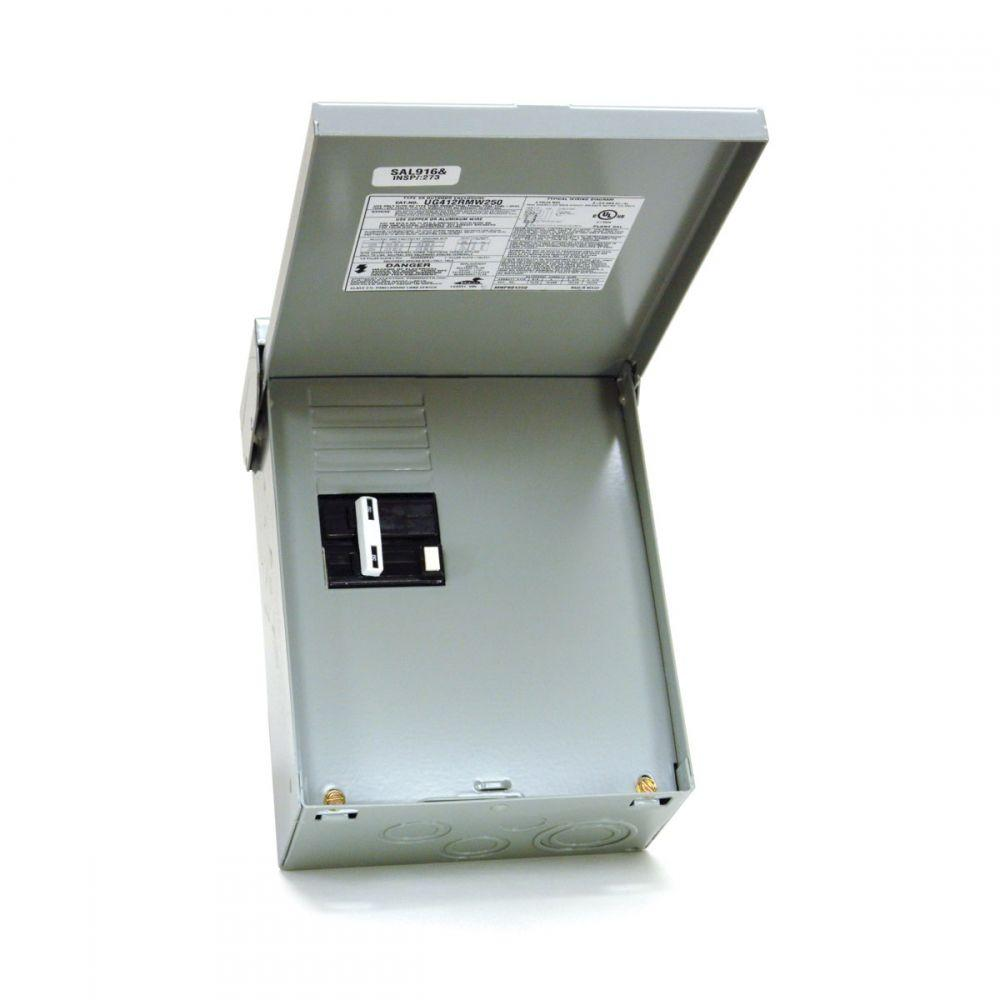 50 amp 240-volt 240-watt non-fuse metallic spa panel disconnect with gfi