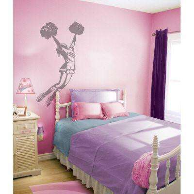 53 in. x 28 in. Cheerleader Wall Decal