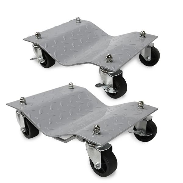 1500 lbs. Capacity Heavy-Duty Commercial Grade Solid Steel Tire Dolly (2-Pack)