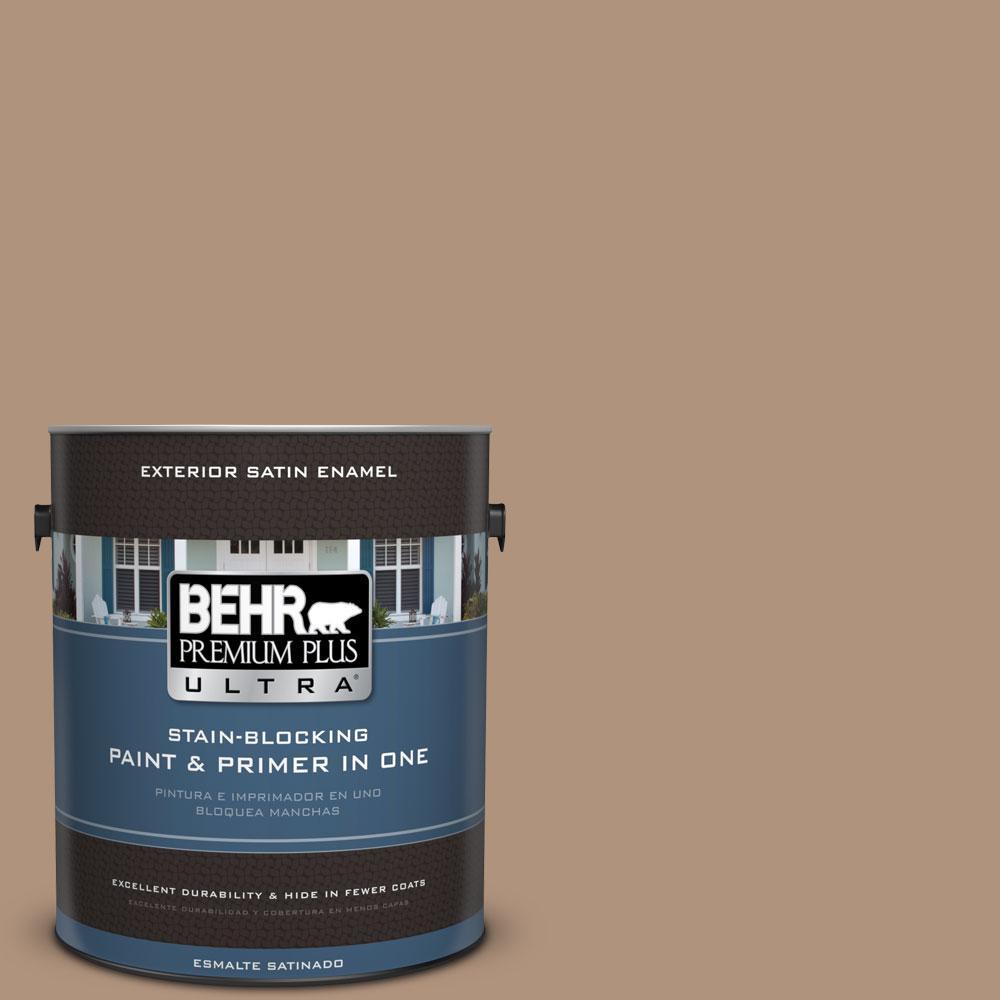 BEHR Premium Plus Ultra 1-gal. #PPU4-4 Soft Chamois Satin Enamel Exterior Paint