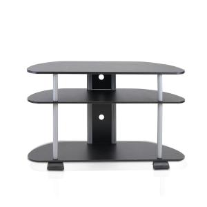 Turn-N-Tube Black 3-Shelf TV Stand with Cable Management