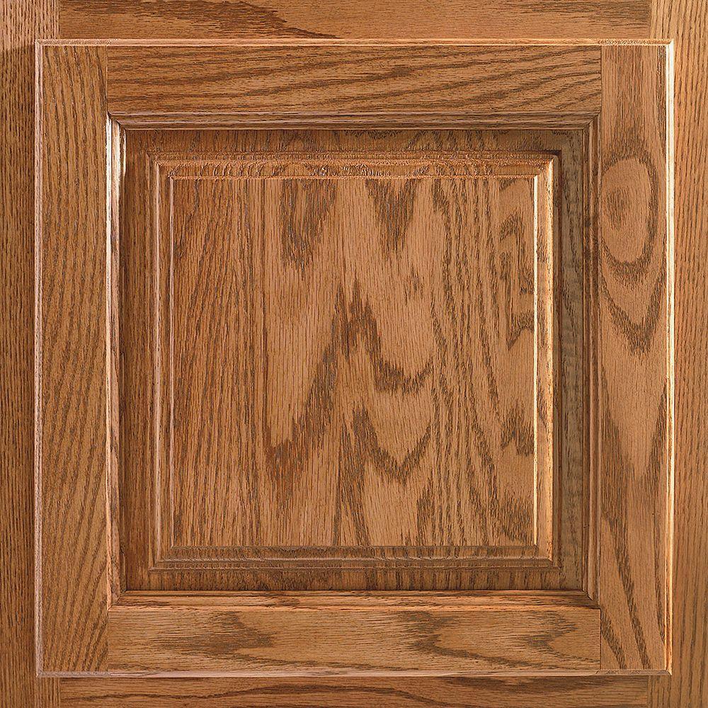 American Woodmark 13x12-7/8 in. Cabinet Door Sample in Newport Oak Tawny
