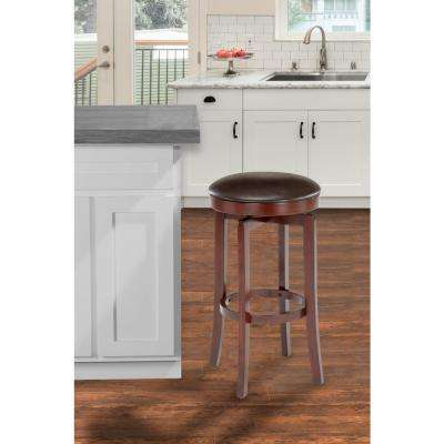 Malone 25 in. Distressed Chestnut Cushioned Bar Stool