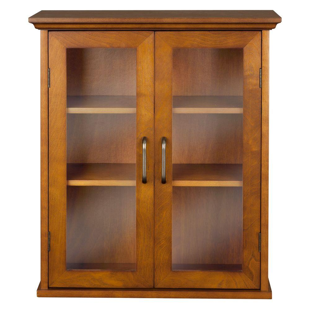 Aida 20 1 2 in w x 24 in h x 8 1 2 in d bathroom storage wall cabinet in oil oak color hdt540 - Antique bathroom wall cabinets ...