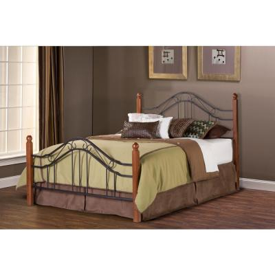 Madison Textured Black Queen Bed Frame