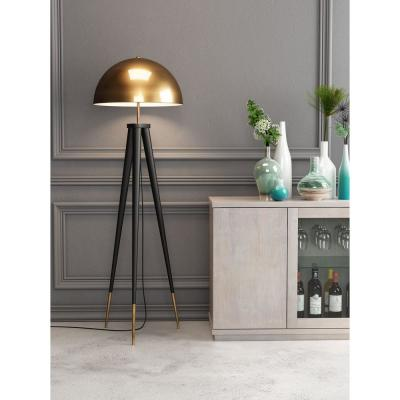 Mascot 61.6 in. Brass and Black Floor Lamp
