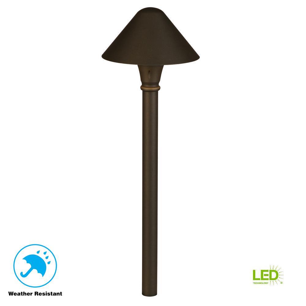 3-Watt Millennium Bronze Outdoor Integrated LED Landscape Path Light