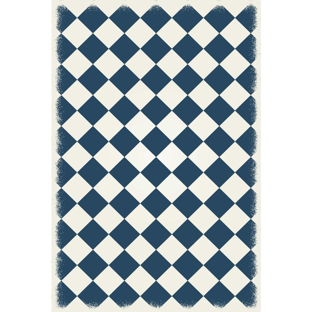 Diamond European Design 4ft x 6ft blue & white Indoor/Outdoor vinyl