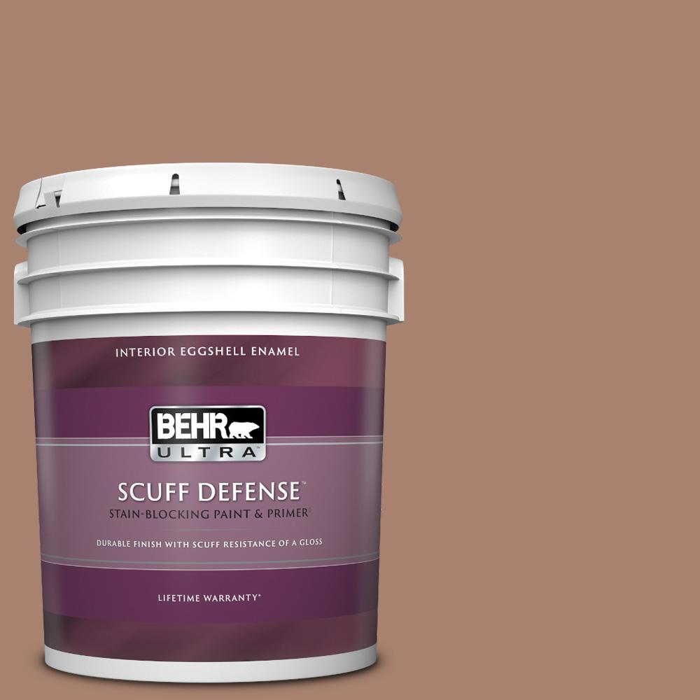 Behr Ultra 5 Gal S190 5 Cocoa Nutmeg Extra Durable Eggshell Enamel Interior Paint And Primer In One 275405 The Home Depot