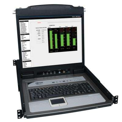 PS/2 to USB Port Rack-Mount Console KVM Switch