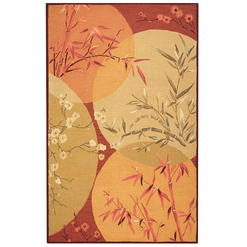 Home Decorators Collection Mandarin Rust and Brown 8 ft. 9 in. x 11 ft. 9 in. Area Rug