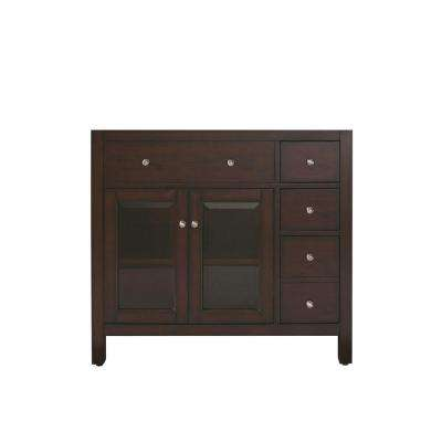 Lexington 36 in. W x 21 in. D x 34 in. H Vanity Cabinet Only in Light Espresso