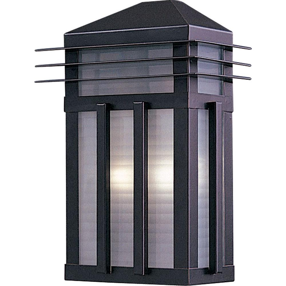 Maxim Lighting Gatsby-Outdoor Wall Mount Sconce Gatsby is a traditional, craftsman/mission style collection from Maxim Lighting International in two finishes, Burnished or Pewter, with Prairie Rib Frost glass.