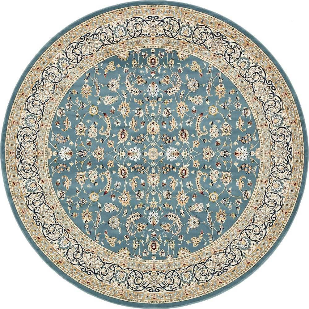 unique loom nain design blue 10 ft x 10 ft round area rug 3135812 the home depot. Black Bedroom Furniture Sets. Home Design Ideas